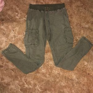 Aerie: Army Green Cargo Girls Pants